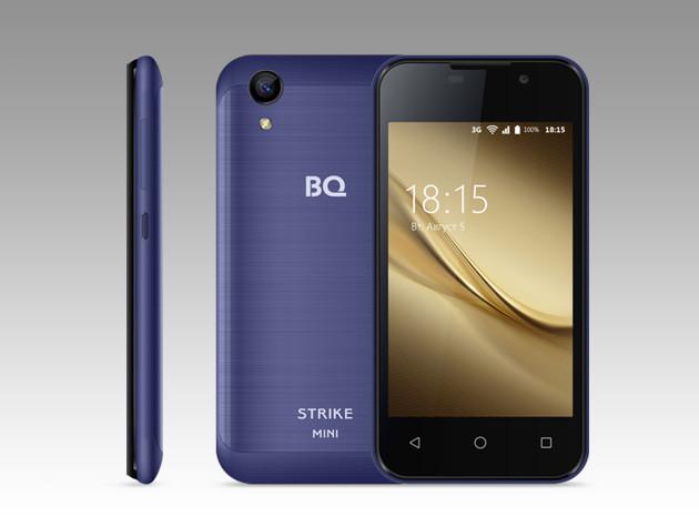 Компактный смартфонBQ Strike Мини оценен дешевле 3 тыс. руб.